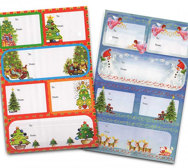 Peel N Stick Gift Tags